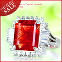Dazzling red dressy! In the Sun swinging sense of transparency and so-☆ ' ルビーカラークォーツ × クリスタルジルコニア フレアス Queen ring ' ToN