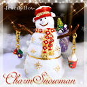 "Come night falling snow to jewelry boxes. Glitter Snowman ☆ ""jewelry box-チャームスノーマン' now available! ToS"