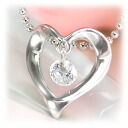 Zirconia Flash heart pendant necklace Heart Necklace open ToS