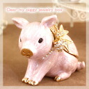 Miniature pig's stylish jewelry box ♪ jewelry box ディアマイピギー