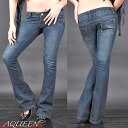 New DENIM line! free denim [cosplay lingerie faux leather tight CAMI tank flare A line, Lowrise, showing bra