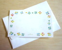 Mini Card ' colorful four leaf ""