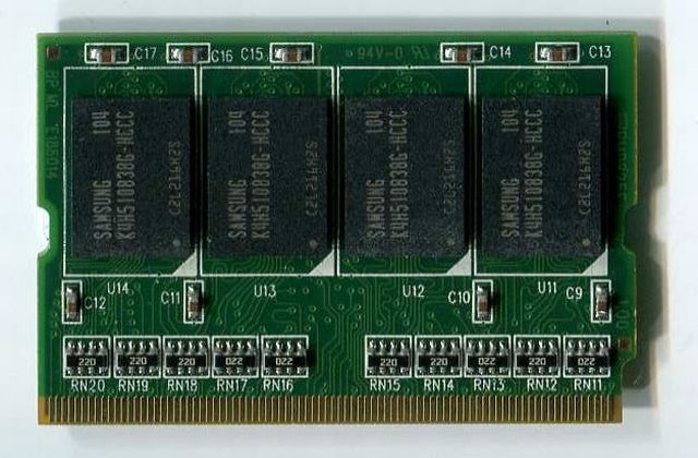 MICRODIMM DDR SDRAM PC2700 512MB