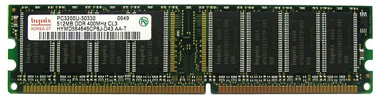 DIMM DDR SDRAM PC3200 512MB (HYNIX)