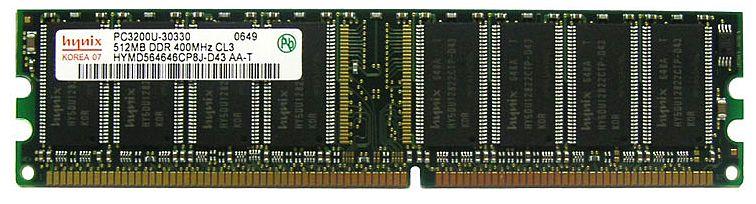 DIMM DDR SDRAM PC3200 512MB (HYNIX)