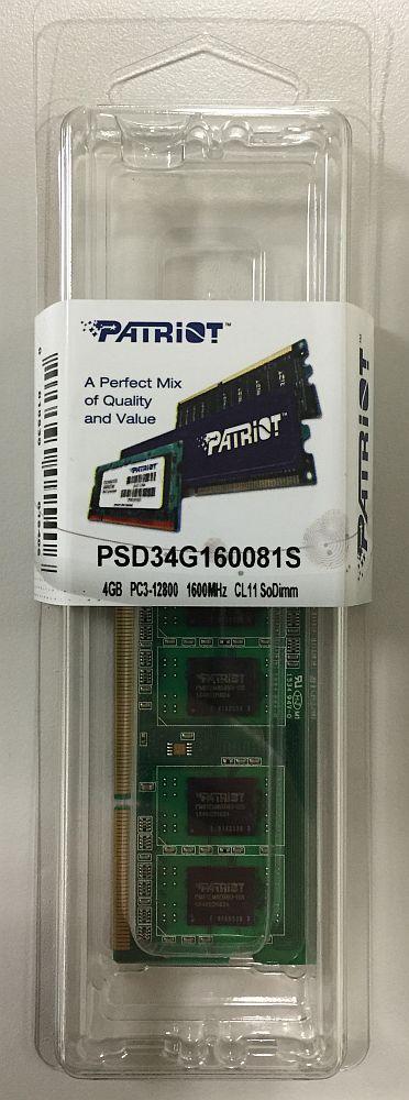 PSD34G160081 [DDR3 PC3-12800 4GB]