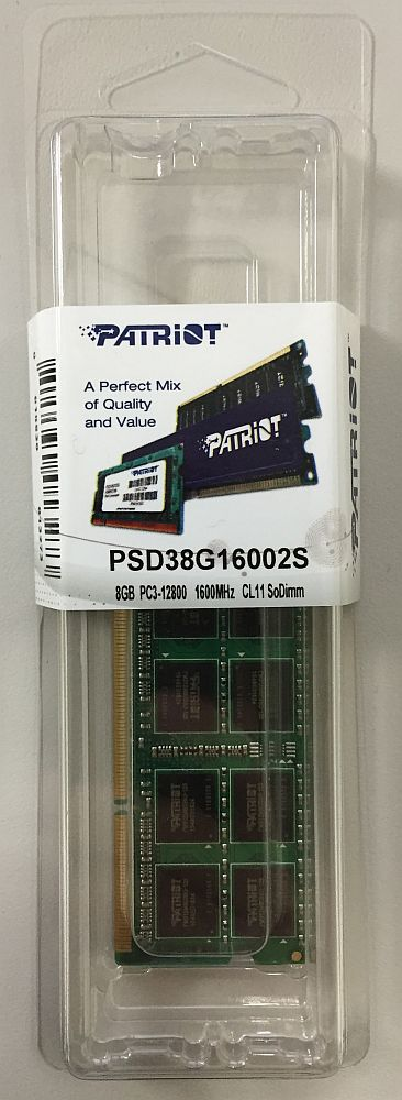 PSD38G16002S [SODIMM DDR3 PC3-12800 8GB]