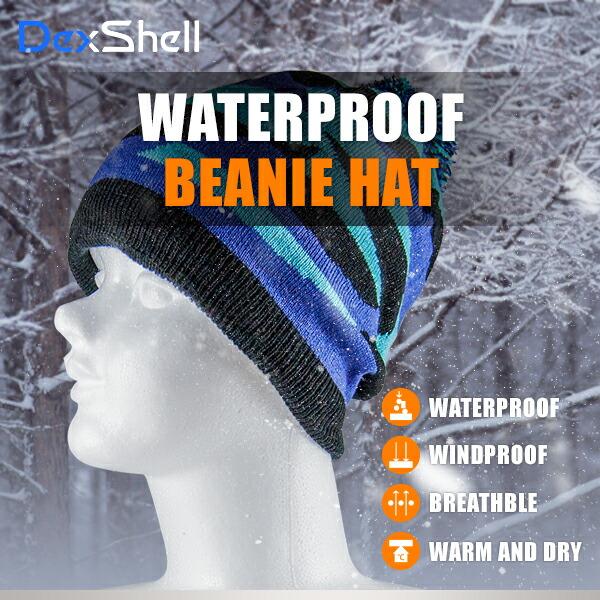 防水通気ビーニー帽  DH352-BLUE