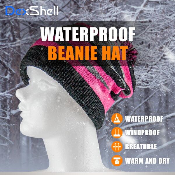 防水通気ビーニー帽 DH352-ピンク PINK
