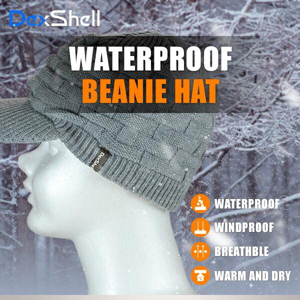 DexShell ツバ付きビーニー帽 DH393-g