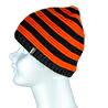 DexShell ビーニー帽 オレンジ/黒ストライプ DH552-TR
