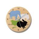 墙上时钟挂钟墙钟 doubutsu pc07-05 所有褐土烧制成动物剪影褐土烧制