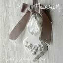 マチルドエム (Mathilde M) rose Angel & Ribbon Crystal & plaster pendant France brand Mathilde M. Angels / roses