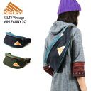 KELTY( Kelty) vintage mini-Fannie 3C body back waist porch hips bag bum-bag men gap Dis OUTDOOR man and woman combined use MINI FANNY 3C crazy color