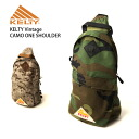 KELTY( Kelty) vintage one shoulder bag camouflage whole pattern camouflage body back men gap Dis OUTDOOR man and woman combined use