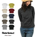 Product made in DanaFaneuil( Dana F null) cotton irregularity thread three-quarter sleeves T-shirt crew neck cut-and-sew raglan sleeve plain fabric Japan