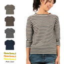 It is made in sleeve irregularity thread crew neck pullover cut-and-sew Japan for DanaFaneuil( Dana F null) horizontal stripe T-shirt 7