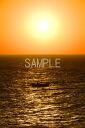 用冲绳北大东岛的海夕阳和渔船照片2lw大小3枚是2lw