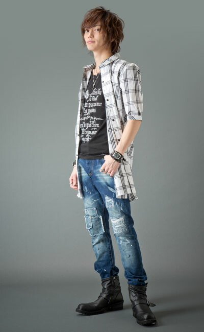 5/Sウインドウペーンロングシャツ