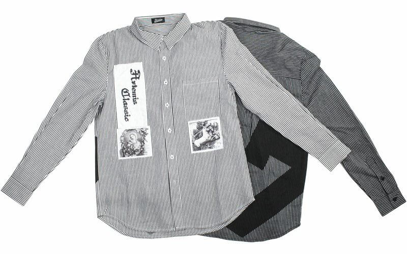 L/Sパッチズストライプシャツ