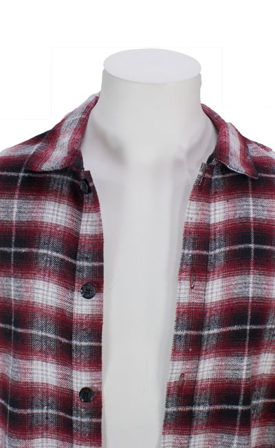 チェックロングシャツ
