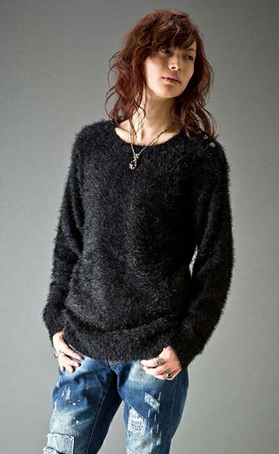 ショルダーBモールフェザーセーター