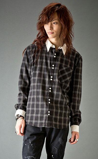 2x5Bクレリックチェックシャツ