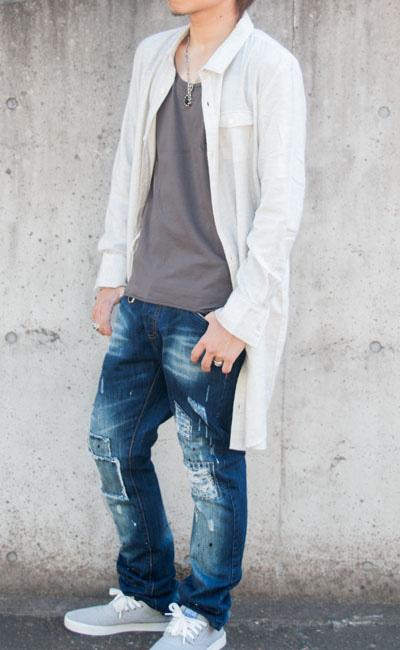 ロングネルシャツ