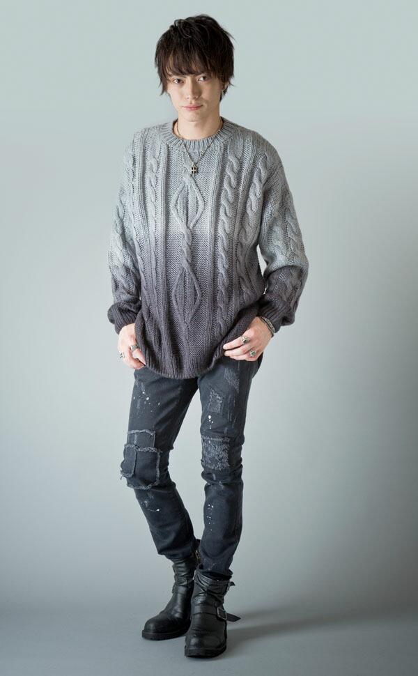 グラデーションニットセーター