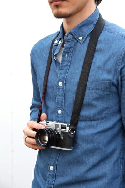 カメラストラップ<パイソン型押しのリングタイプ>