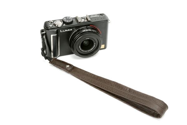 カメラソフトストラップ<ソフトレザーの片吊りハンドストラップ:装着部テープ>