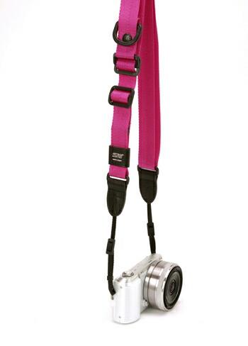 カメラストラップ 指一本で長さを調整・固定できる、6mm幅テープバージョン