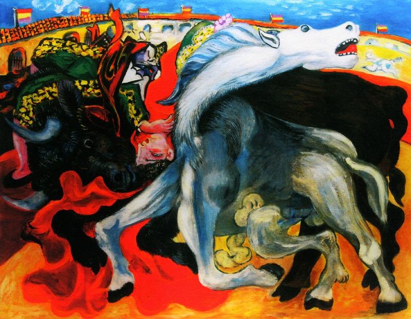 パブロ・ピカソ「闘牛士の死」 【楽天市場】絵画【送料無料】ピカソ「闘牛士の死」作品証明書・展示用