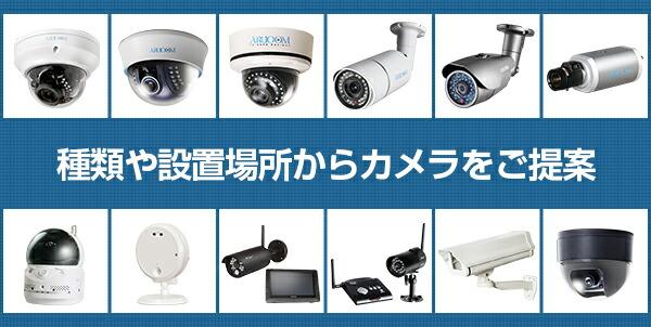 種類や設置場所からカメラをご提案