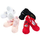 On multiple purchases! キャンバススプリット type Ballet (dance) shoes red, white, black and pink beige [shose 03]