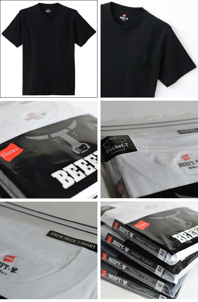 BEEFY ポケットTシャツ 【H5190】  090BLACK