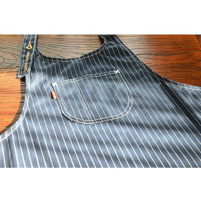 ウォバッシュエプロン handmade 10oz.wabash stripe