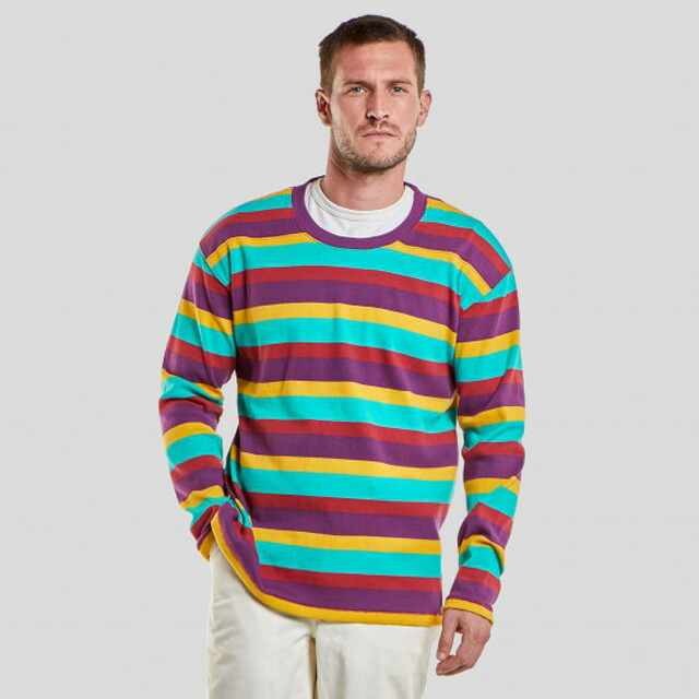 LONG SLEEVE CREW J-51 multi stripe 80381320010