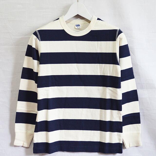 ヘビーボーダーL/S Tシャツ NAT.NAVY PCT3-B