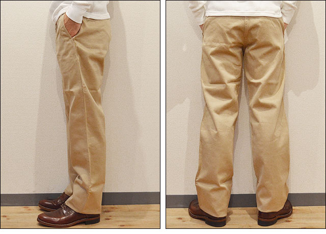 BUZZ RICKSON'S ORIGINAL SPEC CHINOS BEIGE(01)