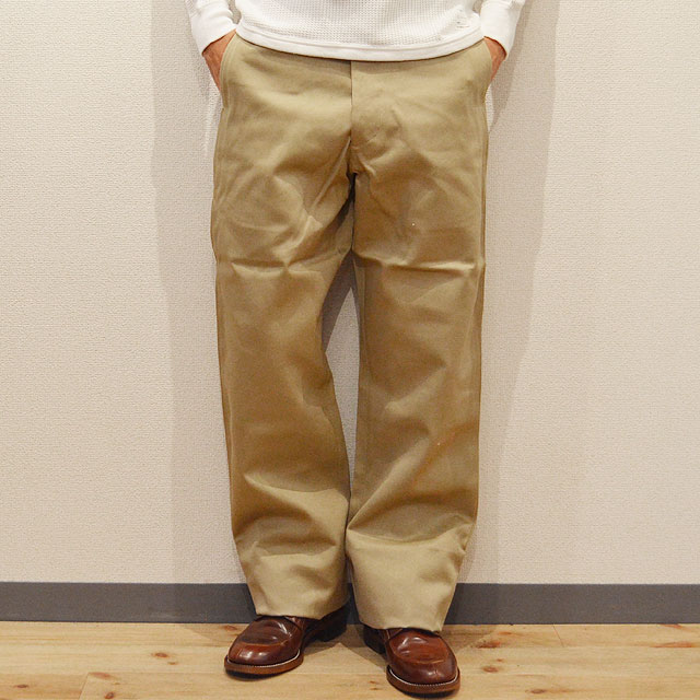 EARLY MILITARY CHINOS 1945 MODEL BEIGE(01)