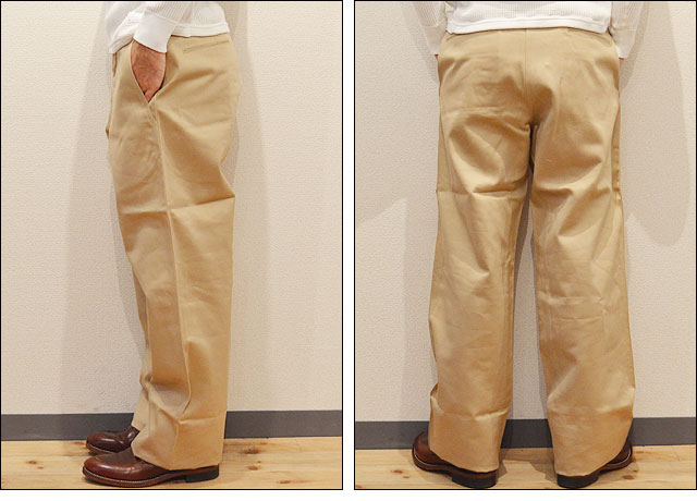 EARLY MILITARY CHINOS 1942 MODEL BEIGE(01)