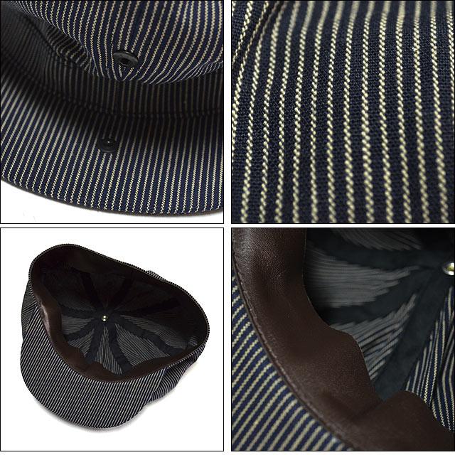 Newsboy Cap Indigo Stripe