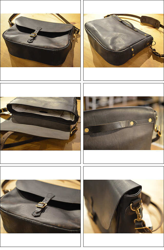 LEATHER POSTMAN SHOULDER BAG-VS248L