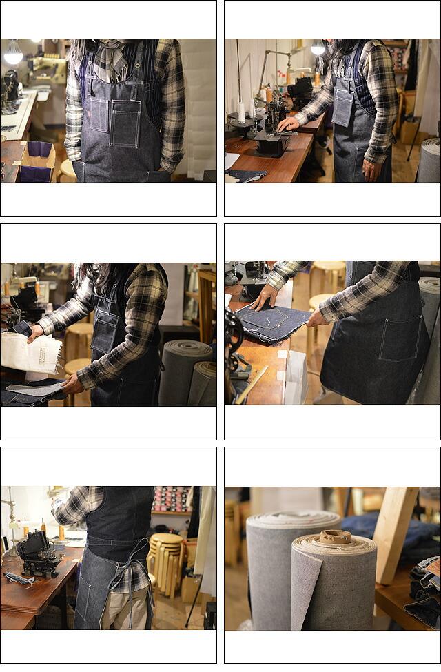 デニムエプロン handmade 亜洲'S謹製(岡山デニム仕様)