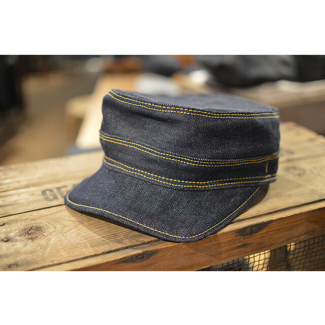 DENIM WORK CAP SS(short square) indigo denim