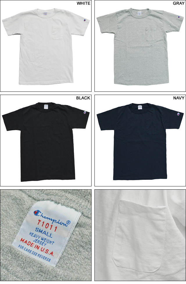 MADE IN USA T-1011 US POCKET T-SHIRT