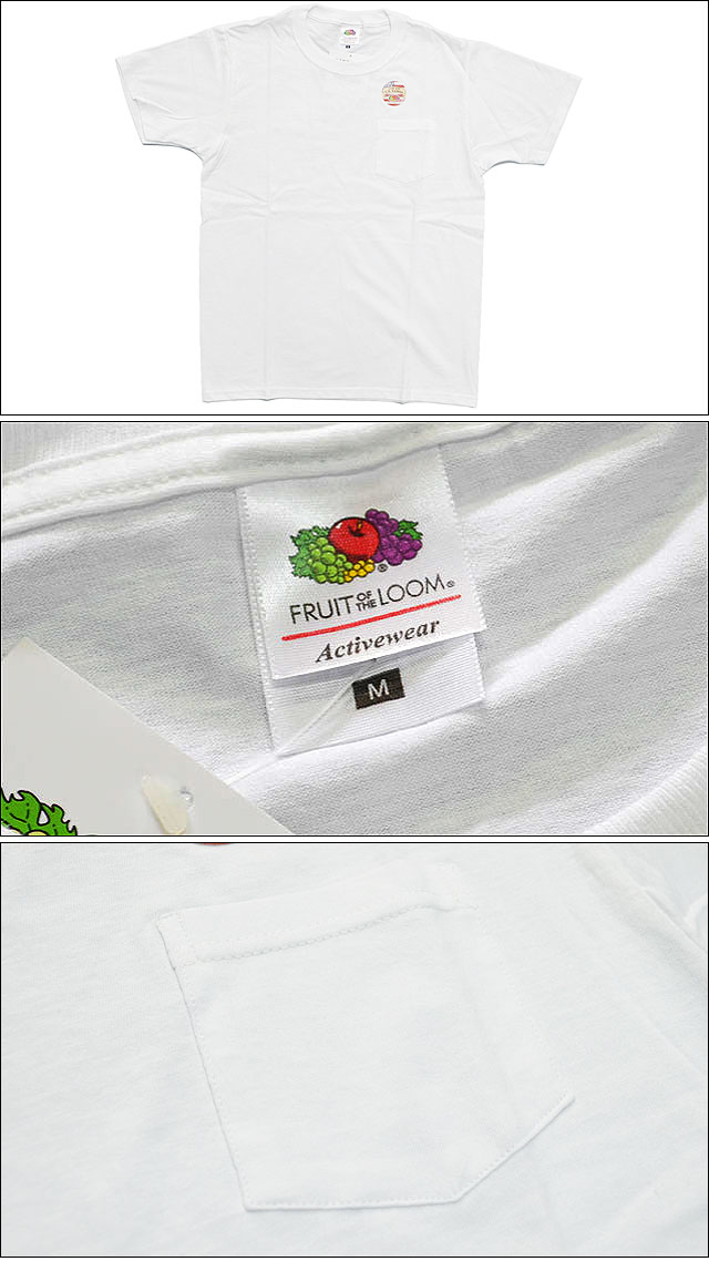 1 PACK POCKET TEE WHITE