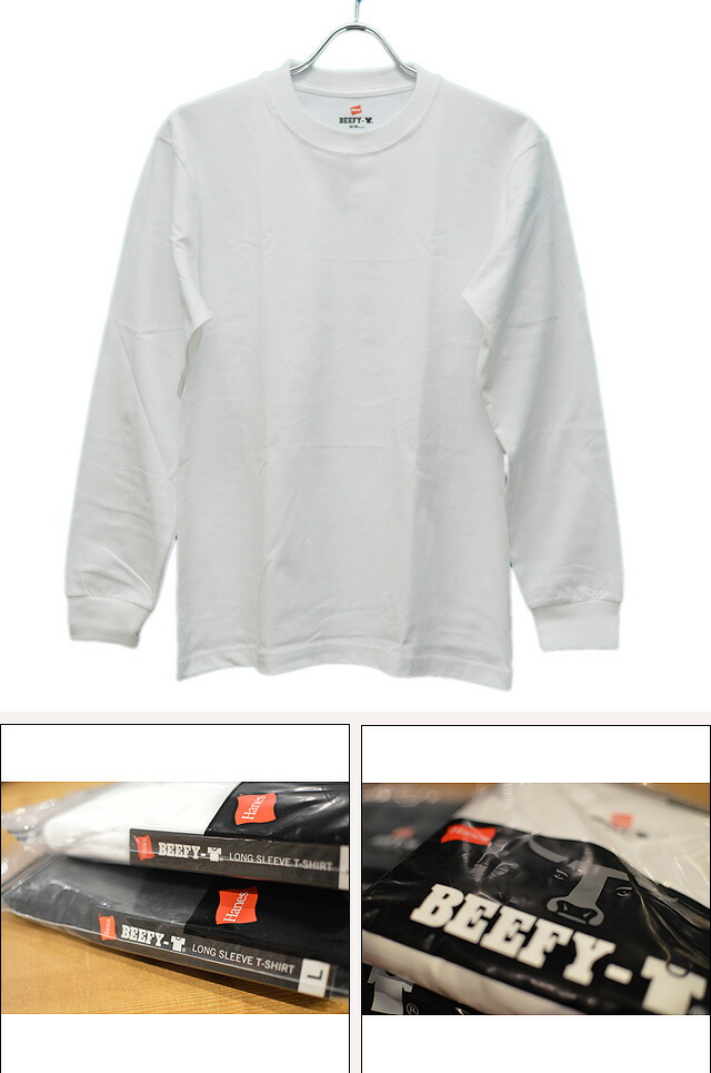 BEEFY LONG SLEEVE T-SHIRT H5186-010 WHITE