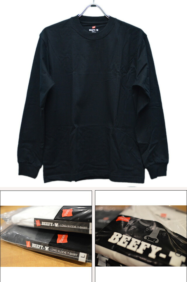BEEFY LONG SLEEVE T-SHIRT H5186-090 BLACK